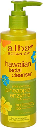 Alba Botanica Hawaiian Facial Cleanser, Pineapple Enzyme, 8 Fl Oz