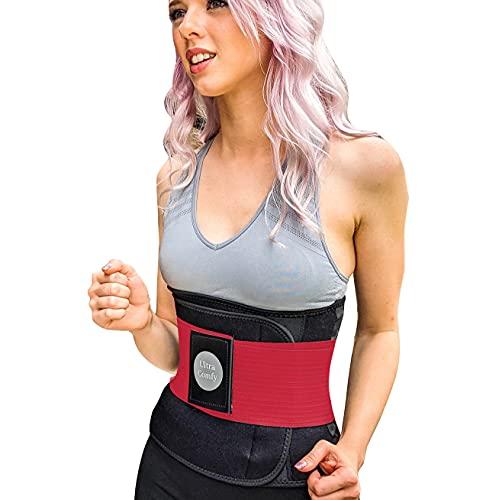 UltraComfy Cinturón de entrenamiento de cintura AB cinturón de sudor para corsé de entrenamiento de cintura Shaper - rojo, mediano