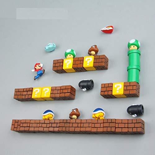 ZNYH Super Craft Imanes DIY nevera nevera imán TV infancia juegos dibujos animados 3D caja de hielo Paster Icebox Sticker-C2