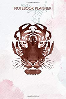Notebook Planner Amazing eyes of the tiger White: Over 100 Pages, Gym, Home Budget, Meeting, Bill, Task Manager, Stylish P...