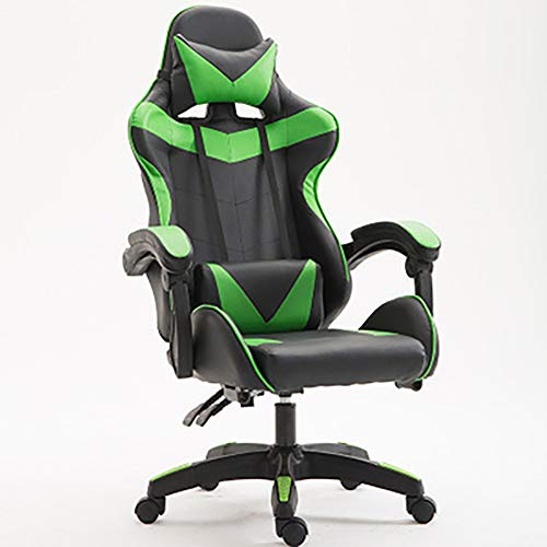 Wolf ES Gamingstoel, verstelbare rugleuning, bureaustoel gamer racing stoel
