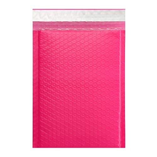 KeePack - #2(25 Pack) Poly Bubble Mailers 8.5x11 Inchs Padded Envelopes Mailing & Shipping Bags - Self Seal Pink