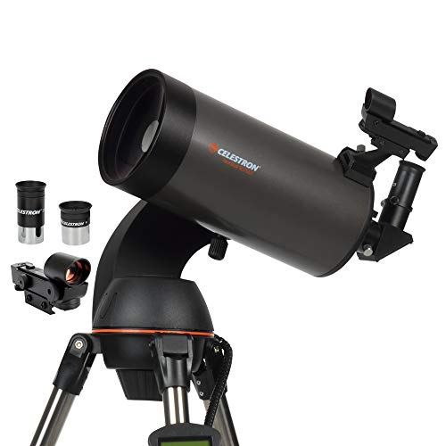 commercial catadioptric telescopes Celestron – NexStar 127 SLT Computer Telescope – Compact and Portable – Maksutov-Cassegrain Optical Design – SkyAlign Technology – Manual Computer Control – 127 mm Aperture