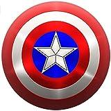 Capitán América Real Shield Ship De Los Estados Unidos Réplica 1:1 Del Escudo Del Capitán América Para Adultos, Disfraces Cosplay Shield Con Dos Correas Ajustables,Material ABS 60Cm