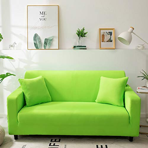 Funda de sofá de Color sólido para Sala de Estar Blanca como la Nieve Funda de sofá elástica a Prueba de Polvo Funda de sofá Toalla elástica para sofá A14 1 Plaza