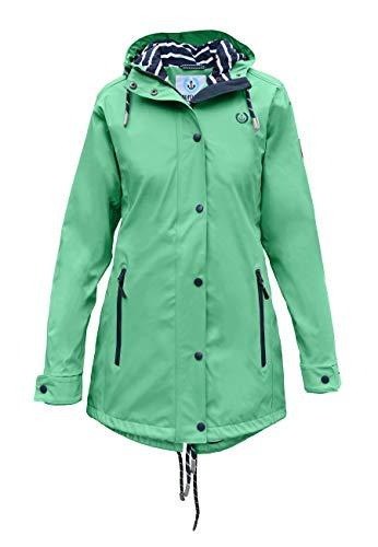 MADSea Damen Regenmantel Friesennerz lindgrün, Farbe:Lindgrün, Größe:38