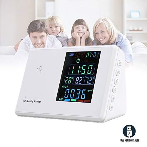 ALTINOVO Detector De Humo Y Monoxido De Carbono, Alta PrecisióN Completamente AutomáTico Probador De Gas Multifuncional Simple E Intuitivo Pantalla Digital LCD