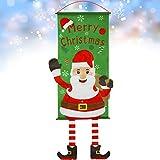 GeeRic Decoración navideña, Bandera navideña Decoración navideña Entrada de la Puerta Navidad 2019 Decoraciones para la Tienda Vitrina Ventana Pared Chimenea Exterior e Interior - Mesa navideña