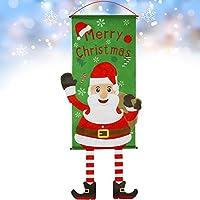 GeeRic クリスマスタペストリー 2020最新版 クリスマス 飾り 壁掛け タペストリー 雑貨 店舗 装飾 室内 飾りつけ サンタ