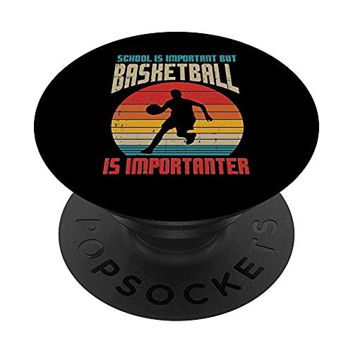 La escuela es importante importante, importante, equipo de jugador retro PopSockets PopGrip Intercambiable