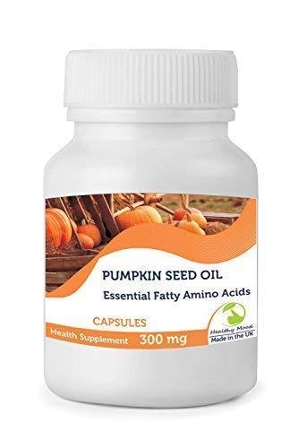 Aceite de Semilla Calabaza 300mg 30/60/90/120/180/250 Cápsulas Salud Alimentación Suplementos Esencial Graso Aminoácidos y Zinc Polyunsaturates Natural Antioxidantes Nutrición Vitaminas Gran Bretaña