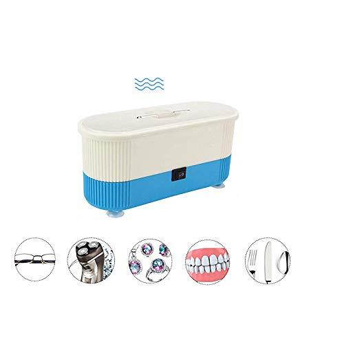 WiCareYo Professional Ultraschallreiniger Mini Reinigungsmaschine für Brillen Schmuck Uhren Gebiss Business Werbung für den Heimgebrauch