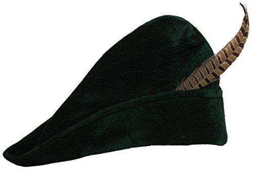 Widmann Räuberhut mit Feder, Accessoire für Kostüme