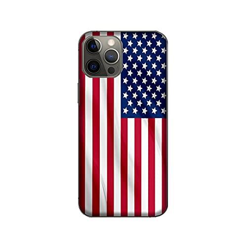 Funda Carcasa Compatible con Apple iPhone 12 Pro MAX Banderas de la Ciudad EE.UU/TPU Suave Gel de Silicona/Teléfono Hard Snap en Antideslizante Anti-Rayado Resistente a los Golpes TPU