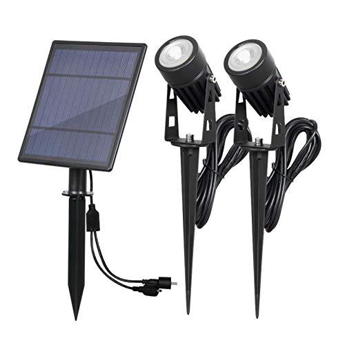 lxxiulirzeu Solar Garden Light Impermeable IP65 Solar Powered LED Paisaje Soalr Luces de césped al Aire Libre/Jardín/Patio/Césped/Lámparas de Patio Trasero