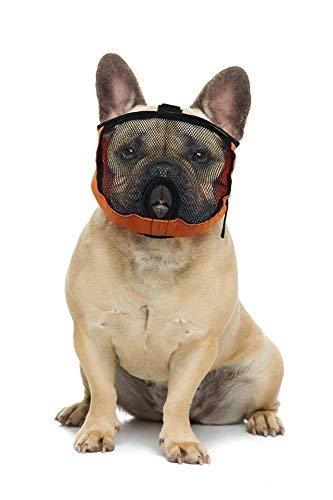 Brachycephalic Maulkorb für Hunde mit abgeflachter Schnauze: Englische Bulldogge, Französische Bulldogge, Pekingese, Shih-Tzu, Mops, auch für Katzen geeignet. (S Kopfumfang: 38-50cm)