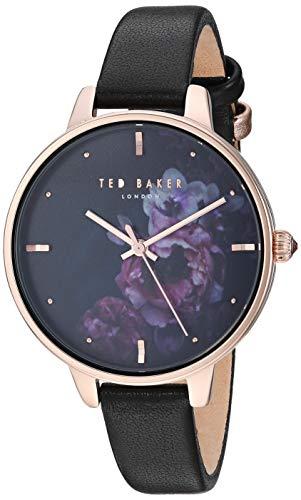 Ted Baker Damen Analog Quarz Uhr mit Leder Armband TE50005021