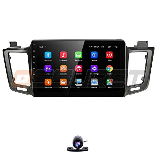 Android 9.0 Car Stereo for 2013-2018 Toyota RAV4 Radio with GPS Navigation 10.1 Inch Touch Screen Head Unit Backup Camera