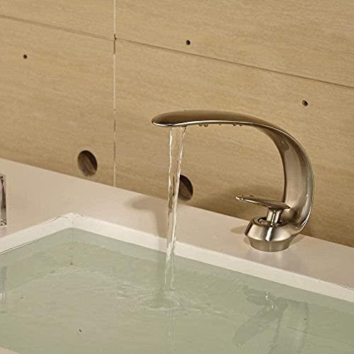 Grifo de baño caliente y frío Grifo de lavabo de bronce negro al por mayor-Silver-D2751