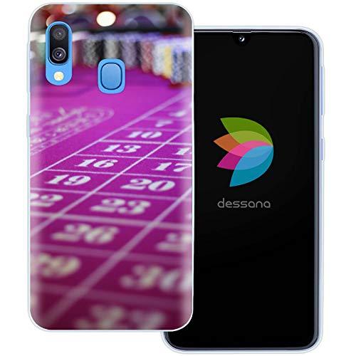 dessana geluksspel Casino transparante beschermhoes mobiele telefoon case cover tas voor Samsung Galaxy A J, Samsung Galaxy A40, Roulette tafel