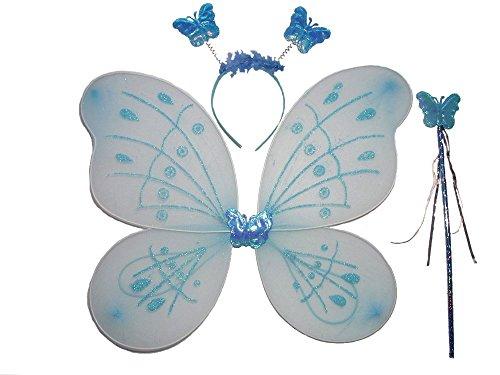 Tante Tina - Ensemble Ailes de fée / Papillon Lulu - 3 pièces - Bleu