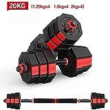 LAMTON Carga Pesa de Gimnasia Ajustar Pesos Ajustable Gym Equipment Ajustable con Mancuernas Pesas Pesas Mancuernas Set