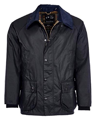 Barbour MWX0018-NY91 Bedale Wax Jacket Classic Herrenjacke, wasserdicht, Marineblau, Regular Fit, Blouson, Blau 46