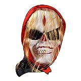 HEling Máscara terrorífica para Halloween, máscara de látex, máscara terrorífica de demonios espeluznantes, Halloween, disfraz de zombi, máscara de látex de goma, talla única