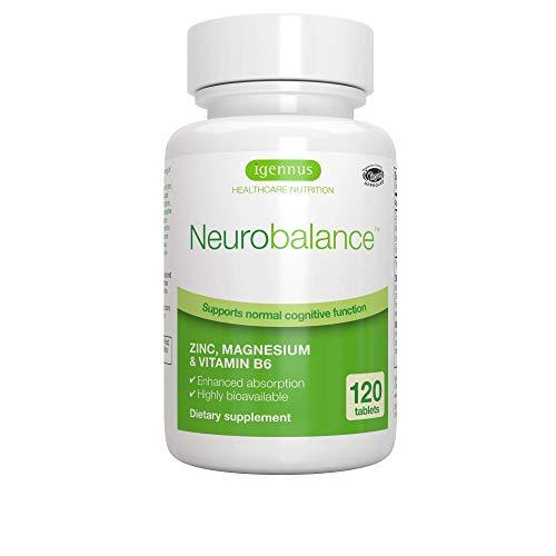 Neurobalance – ZMB6 Tabletten, hochdosiert, mit Zink, Vitamin B6 und Magnesium, vegan, 120 Tabletten