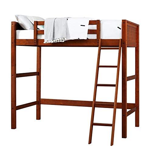 Rosebery Kids Twin Loft Bed in Walnut