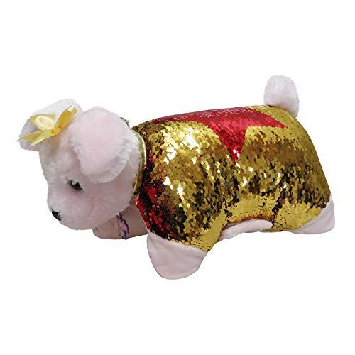 Doggie Star Doggie Star-C-01-DS pluche kussen Labrador - Braddy tas goud en rood.