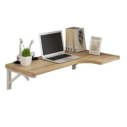 QZH Mesa Plegable para Colgar en la Pared, Mesa de Comedor, Escritorio de Esquina para computadora, Mesa Multifuncional, (Blanco, 100 * 60 * 40 cm)