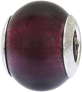 GlassOfVenice - Abalorio de cristal de Murano, plata de ley, color morado