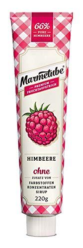 Marmetube | 220 g himmlisch leckeres Frühserlebnis 66 Fruchtanteil keine Stücke Kerne aus sonnengereiften Früchten die wohl nachhaltigste Verpackung auf dem Markt, Himbeere