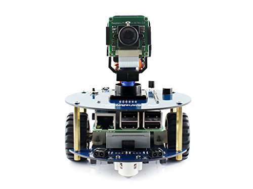 Waveshare AlphaBot2 Pi Robot Building kit for Raspberry Pi 3 Model B, Obstacle avoiding, Bluetooth/Infrared/WiFi Remote Control, Video Monitoring
