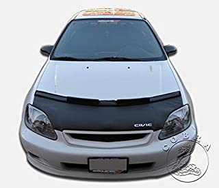 Car Bonnet Mask Hood Bra + Civic Logo Fits Honda Civic 1999 2000 99 00 EK