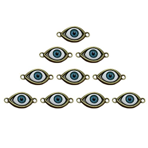 TENDYCOCO 10 Stücke Vintage Bronze Augen Anhänger Basteln Charms DIY Metall Schmuckanhänger für Armband Halskette Schlüssel Schmuckherstellung Zubehör