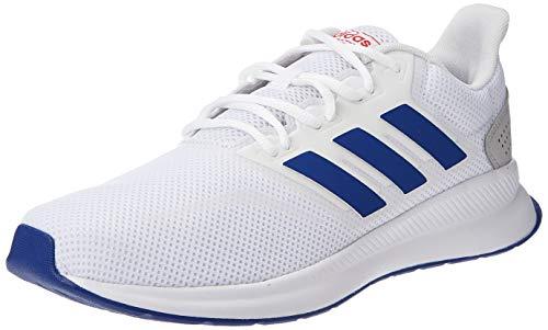 adidas Performance EF0148 RunFalcon Herren Laufschuh aus Mesh mit herausnehmbarerInnensohle, Groesse 44 2/3, weiß/blau