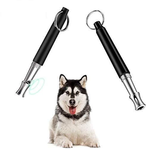 DETENO 2 stück Hundepfeife,Ultraschall-Hundepfeife für Effektives Hundetraining & Welpen-Erziehung,Einstellbare Hochfrequenz Professionelle Hundepfeife