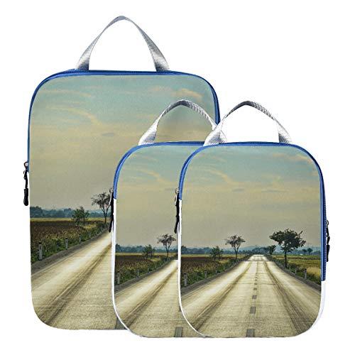 Montoj Suburban Road cubos de embalaje de viaje, juego de 3 organizadores de equipaje