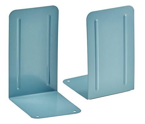 Acrimet Premium Metal Bookends (Heavy Duty) (Green Color) (1 Pair)