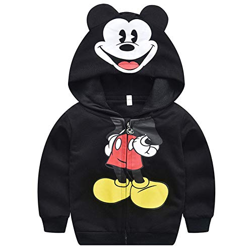 KBWL Kinderkleidung New Mickey Mouse Cartoon Kleidung Frühling und Herbst Baby Boy Kapuzenpulli Kinder Mantel Mantel Kids Cute Coat 1-5t 3T Schwarz
