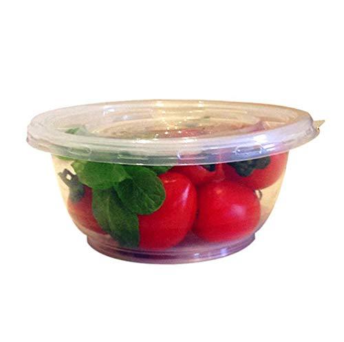 YUEMING 10 Pezzi Contenitore per Alimenti in plastica con Coperchio,Contenitore per la Preparazione dei pasti Ciotola di plastica
