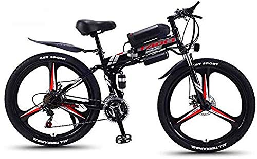 MQJ Ebikes 26 '' Bicicleta Eléctrica de la Bicicleta de Montaña Plegable para Adultos 36V 350W 13Ah Batería Extraíble de Iones de Litio Extraíble E-Bicicleta de Grasa Neumático de Doble Disco Frenos