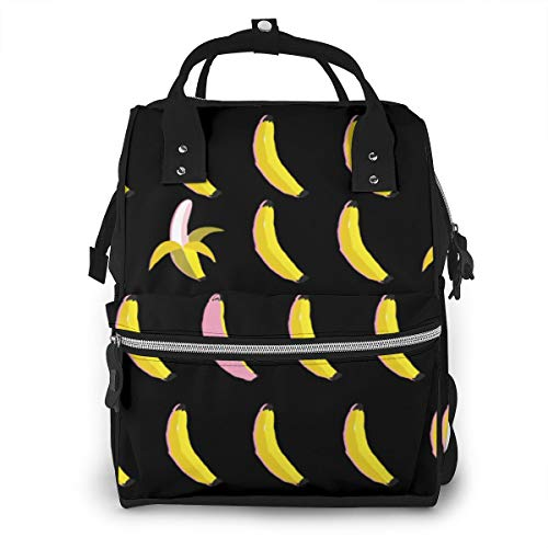 Funny Cute Cartoon Banana Fruit Baby Diaper Bag Backpack,Multi-Function Waterproof Large Capacity Travel Nappy Bags For Mom