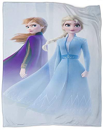 Manta de forro polar de franela de Frozen Movie Decoraciones de Navidad Año Nuevo Regalos para sofá adecuado para todas las estaciones, tamaño individual de 60 x 80 pulgadas