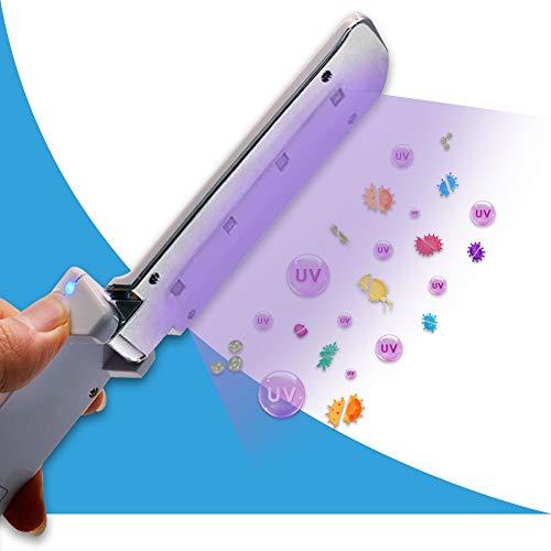 [New] UVILIZER Razor - UV Light Sanitizer & Ultraviolet LED Sterilizer Wand (Portable UV-C Cleaner for Home, Car, Travel   Handheld UVC Disinfection Lamp   Kill 99% of Germs, Bacteria, Viruses   USA)