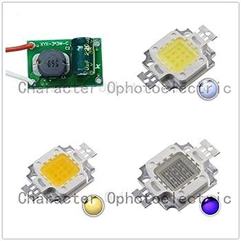 Jammas 1set 10W LED Cool/Warm White Blue/Royal Blue/uv 10000 20000k 30000k High Power LED + 12v 24v 10w 900ma led Driver -  Emitting Color  20000k