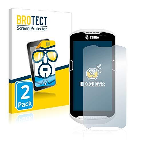 BROTECT Schutzfolie kompatibel mit Zebra TC57 (2 Stück) klare Displayschutz-Folie