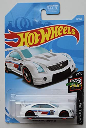 HOT Wheels 1:64 Scale Race Day 2/10, White '16 Cadillac ATS-V R 75/250